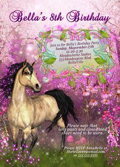 horse template invitations horse birthday party invitations