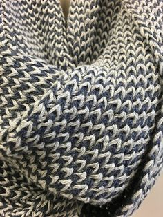 This two-color combo infinity circle knit scarf is designed and knitted with lots of love and care, HANDMADE, amazing quality, you will LOVE it, we