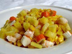 Salade exotique à l'ananas