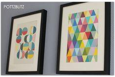 Bunte Bilder . grafisch . selbermachen . basteln aus Farbkarten . POTTZBLITZ …