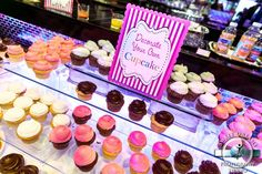 Decorate Your Own Cupcakes Bar & Dessert Table  (DIY Cupcakes)  {Jewish Baby Naming & First Birthday Party - New York by Sweet Dreams Studio} - mazelmoments.com