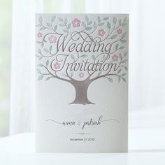 Make custom invitations and announcements for every special occasion.Vintage love tree wedding invitations adorned with your names monogram,Letterpress wedding Discount Wedding Invitations, Affordable Wedding Invitations, Personalised Wedding Invitations, Floral Wedding Invitations, Wedding Invitation Templates, Wedding Verses, Wedding Cards, November, Wedding To Do List