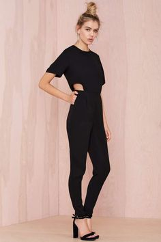 Asilio Step Aside Cutout Jumpsuit - Rompers + Jumpsuits |  | Rompers + Jumpsuits