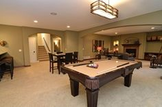 a nice basement idea...def need the pool table!! and a bar!!