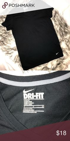 Nike Dri-Fit v-neck tshirt light pilling but in great condition Nike Tops Tees - Short Sleeve