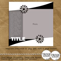 Free template on the Trixie Scraps blog today.