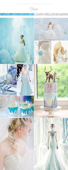 Disney Frozen Inspired Wedding Palette