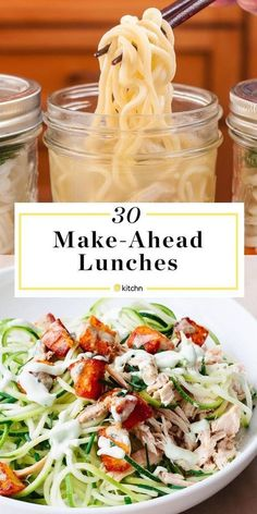30 Make Ahead Lunches You Can Pack Tonight for work or school. If you need recipes and ideas for meals you can make in advance for kids or adults, healthy or comforting, to pack a lunch, you've come to the right place. These easy, satisfying recipes will Quick Healthy Lunch, Healthy Lunches For Work, Make Ahead Lunches, Prepped Lunches, Healthy Snacks, Quick Lunch Recipes, Cold Lunches, Snacks For Work, Healthy Lunches For School