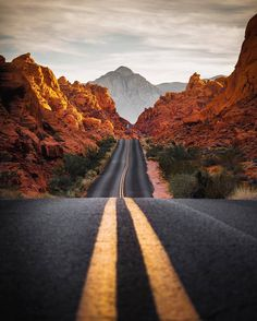 Down the Road Valley of Fire State Park, Nevada Photography by © Beautiful Roads, Beautiful Landscapes, Nature Photography, Travel Photography, Amazing Photography, Valley Of Fire State Park, Road Trip Usa, Sedona Arizona, Northern Lights