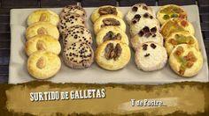 Surtido de galletas - Presentación Baked Potato, Baking, Chocolates, Ethnic Recipes, Food, Walnut Cookies, Homemade Biscuits, Almonds, Ethnic Food