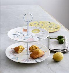 Mooie etagère van porselein met bloemenprint. Shop hier meer mooi servies van Mini Labo. Gratis inpakservice, snel in huis.