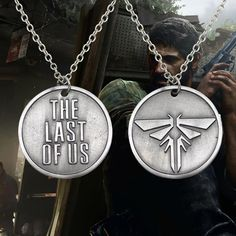 Fashion Movie Jewelry The Last Survivor Logo The Last Of Us Brand Round Pendant Necklace For Men Women Gift Alloy Silver PLated