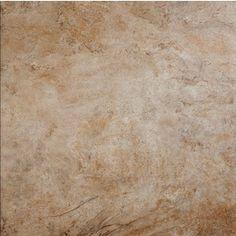 Guest Bath flooring -- Lowe's -- Style Selections�18-in x 18-in Mesa Beige Glazed Porcelain Floor Tile