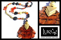 Bespoke Statement Jewellery, handcrafted in our design studio near Byron Bay in Australia. Free world-wide Shipping! Macrame Necklace, Bohemian Necklace, Macrame Jewelry, Beaded Earrings, Unique Jewelry, Jewelry Design, Paper Jewelry, Statement Necklaces, Feathers