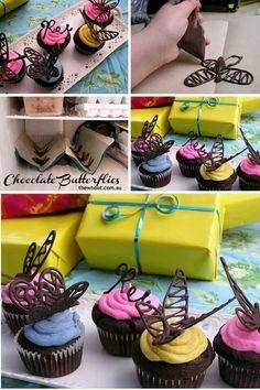 Choc butterflies, cakes, birthday