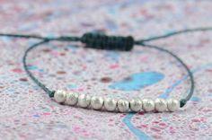 Sterling silver bracelet 10 balls bracelet por Zzaval en Etsy