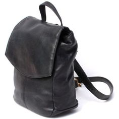 GRUNGE black leather 80s 90s KNAPSACK mini HOBO purse ($40) ❤ liked on Polyvore featuring bags, backpacks, accessories, purses, mini leather backpack, leather hobo bags, miniature backpack, vintage leather backpack and hobo bags