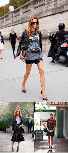 » Leather Skirt Street Style Mi armario en ruinas