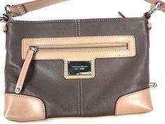 Tignanello Tan Leather Crossbody Messenger Organizer Handbag Wallet Functionista #Tignanello #MessengerCrossBody