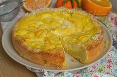 Crostata con ricotta e crema agli agrumi