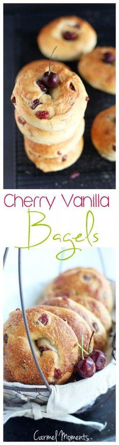 Cherry Vanilla Bagels | Carmel Moments