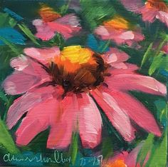 "Daily Paintworks - ""Coneflower"" - Original Fine Art for Sale - © Diana Shoulberg"