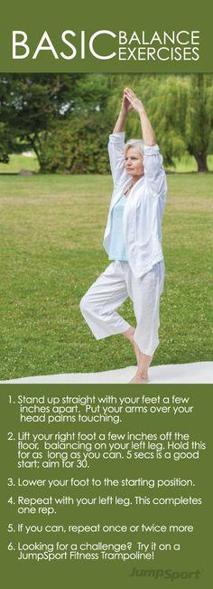 #Balance #exercise for #seniors via http://www.jumpsport.com/balance-exercises-for-seniors