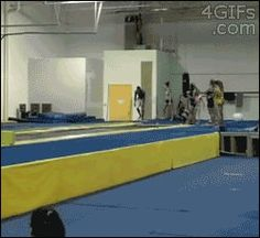 He knows how to jump. Damn.