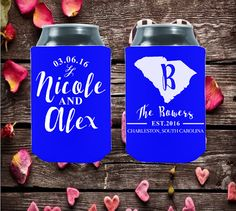 Wedding Can Coolers  South Carolina State  by moonbeamsnpie