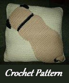 Pug Pillow Crochet Pattern