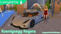 Koenigsegg Regera at LorySims via Sims 4 Updates