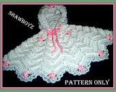 This item is unavailable Crochet For Kids, Crochet Baby, Knit Crochet, Crochet Poncho Patterns, Baby Patterns, Baby Poncho, Crochet Clothes, Baby Knitting, Kids Outfits
