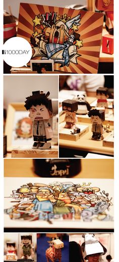KOREA Comics Character Collaboration papertoy & SCAIF by 1000DAY , via Behance