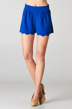 Payton Shorts in Royal Blue! If I don't obtain a pair of scalloped shorts soon I may combust and the blue. Spring Summer Fashion, Autumn Fashion, Rush Outfits, Royal Blue Shorts, Lingerie, Classy And Fabulous, Pretty Outfits, Pretty Clothes, Playing Dress Up