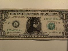 Famous caricature in us dollar bill