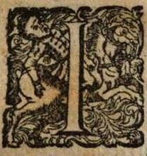 Lettrine cheval 1600/ Initial letter horse 1600