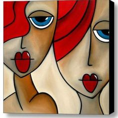 ABSTRACT ORIGINAL PAINTING - GIRLS NIGHT OUT Artist: Mead, Alicia Artwork title: GIRLS NIGHT OUT Price: $850