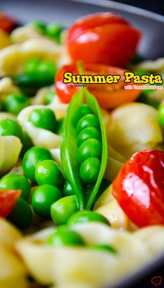 Summer Pasta with Tomatoes and Peas is very easy to make. It is healthy as it doesn't have any heavy sauce, yet it is tasty with summer flavors.