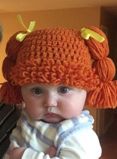 Diy Crafts - -Excited to share this item from my etsy shop: Cabbage Patch Kids hat baby child Baby Hats Knitting, Crochet Baby Hats, Crochet Beanie, Baby Knitting Patterns, Knitted Hats, Crochet Patterns, Booties Crochet, Häkelanleitung Baby, Child Baby