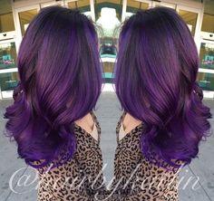 Purple Balayage ombré