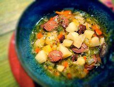 Irish Potato & Cabbage Soup with Soda Bread