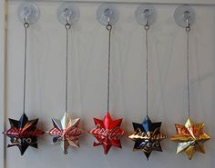 Hanging soda can stars (written instructions in Swedish)