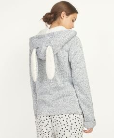 Veste lapin avec doublure molletonnée - OYSHO