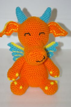 crochet dragon from etsy