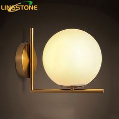 Modern Led Wall Lamp Sconce For Living Room Bedroom Wall Light Iron Body Glass Lampshade Bathroom Light Retro Lamp Home Lighting (69% discount)