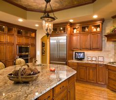 Kitchen Ideas Brown Cabinets the best color granite countertop for honey oak cabinets | honey