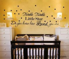 Twinkle Twinkle Little Star Wall Quotes Vinyl Decal Stickers Kids Nursery Decor