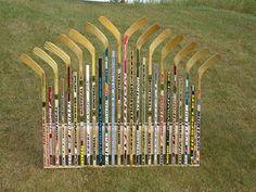 hockey stick headboard-love it!