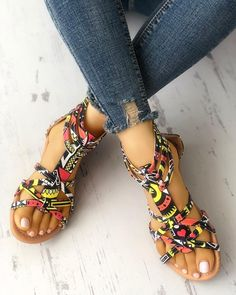 Shop IVRose Flat Out – IVRose offers Flat Out deals to fit the best trending styles Beaded Shoes, Beaded Sandals, Flat Sandals, Flat Shoes, African Fashion Ankara, African Print Dresses, African Clothes, African Prints, African Style