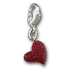 swarovski heart charm